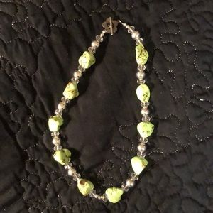 Jewelry - Lime and silver chunky bead necklace
